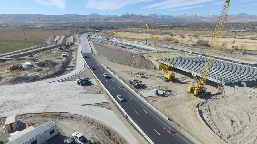 All lanes and ramps have now opened at the interchanges on Bangerter Highway at 5400 South, 7000 South, 9000 South and 11400 South.