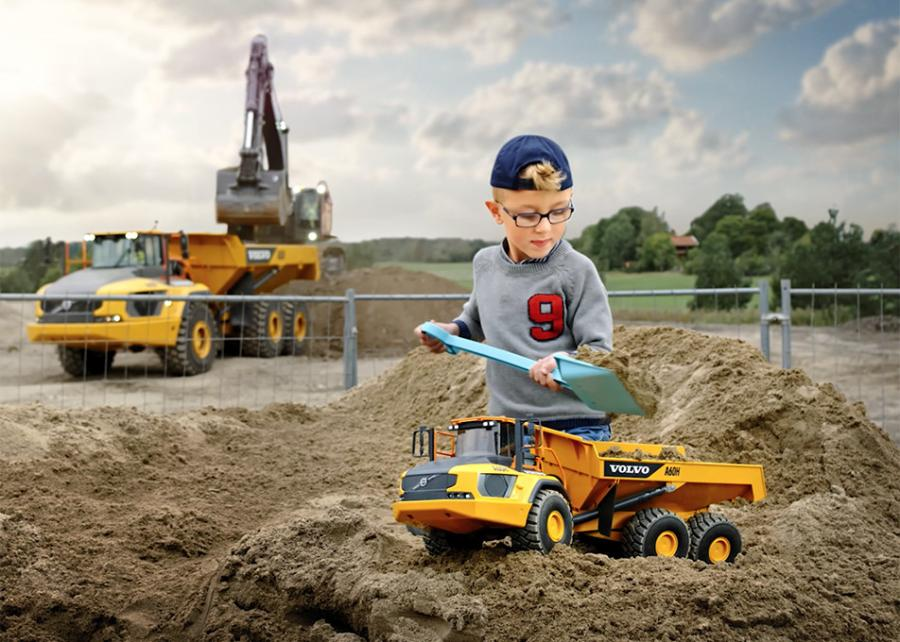 Bruder's latest award-winning toy release gives a miniature makeover to the gritty world of construction machines.