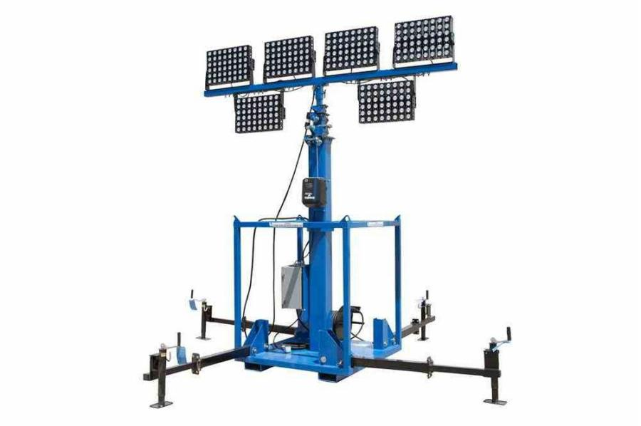 The LM-30-8-5S-6X600LTL-LED-EW-E18-SM-RD-TBC skid mount LED light plant features six high output, wet area approved LED fixtures producing a total of 360,000 lumens of light.