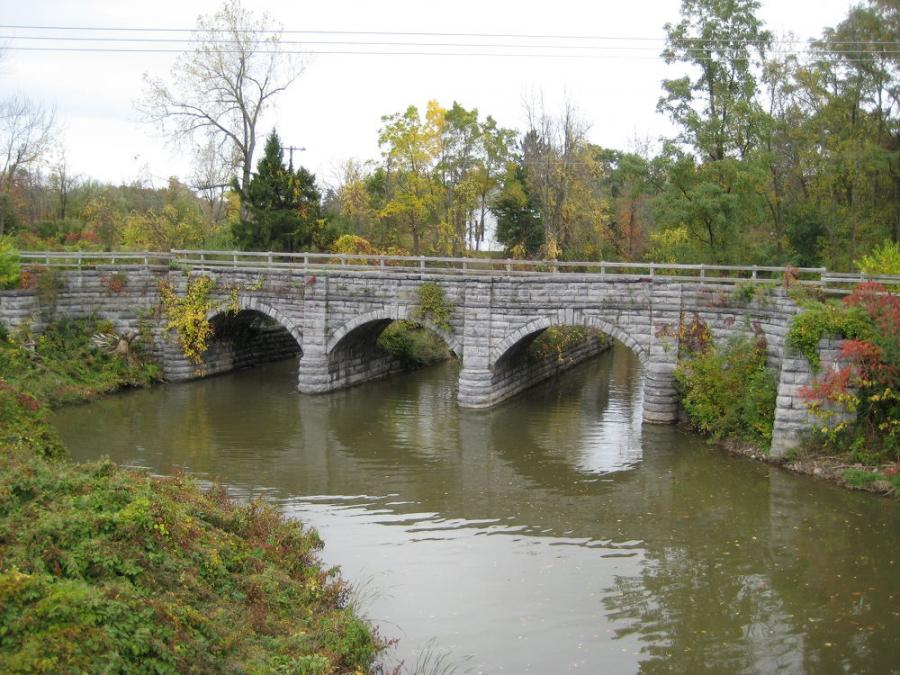 The entire state canal system, which opened in 1825, is designated a National Historic Landmark -- meaning any repairs to old bridges have to preserve the existing elements of the span.
