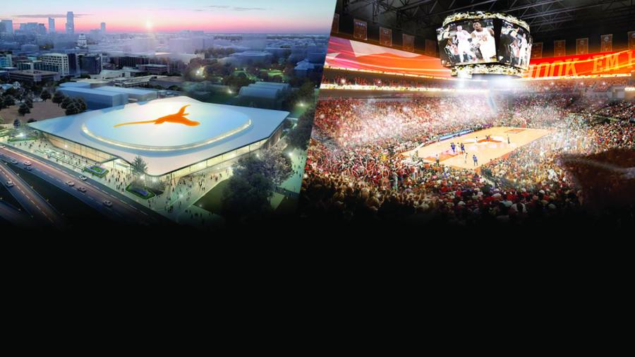 The $338 million venue will be constructed on land fully owned by UT without using any university or public money.