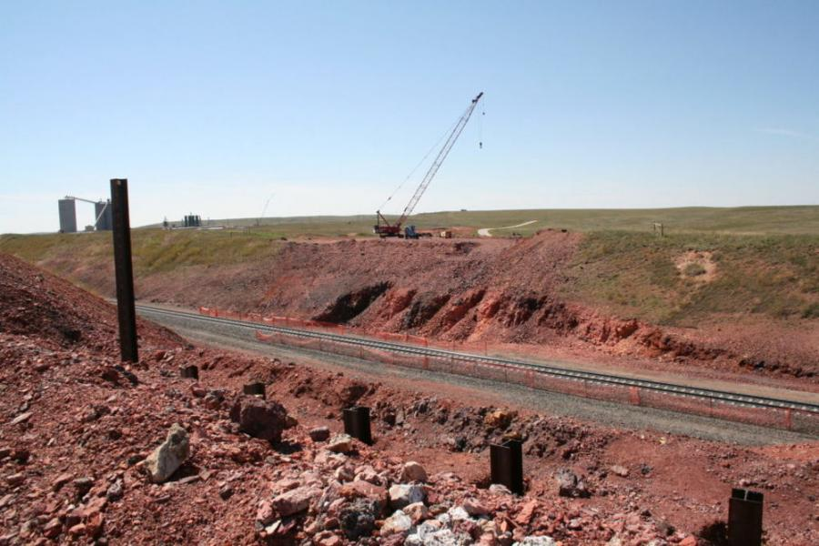 The new roadway will provide a second north-south access to north WYO 59. 