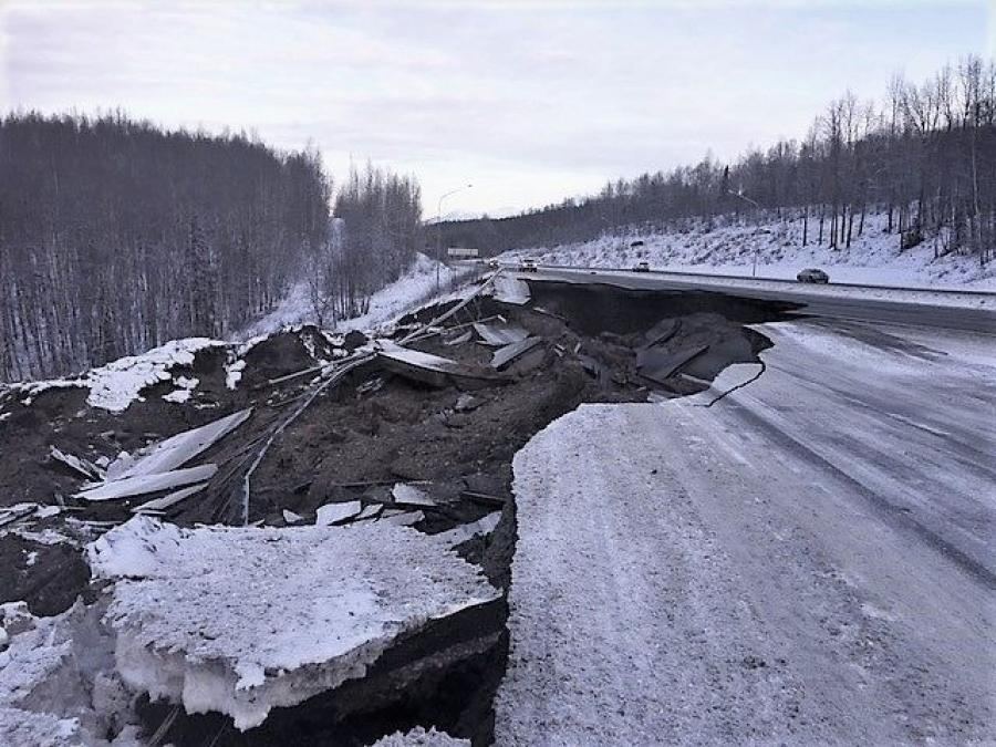 $25 million in federal funds has been approved for repairs to earthquake damaged infrastructure in Alaska. (Alaska Department of Transportation and Public Facilites photo)