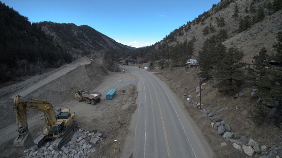 Crews are nearing the end of the U.S. 34 through the Big Thompson Canyon flood-recovery project.
