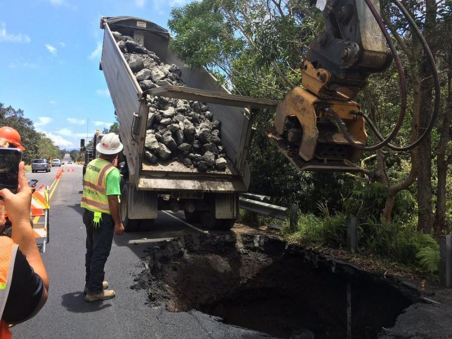 Temporary repairs at mile marker 30 on July 6, 2018.
