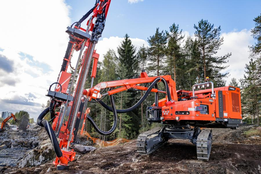 Ranger DX series of surface top hammer drill rigs, suited for construction applications, quarries and open pit mines is now expanded with two new non-cabin drill rigs based on the Ranger DX600 and DX800 models, named Ranger DX600R and DX800R respectively.