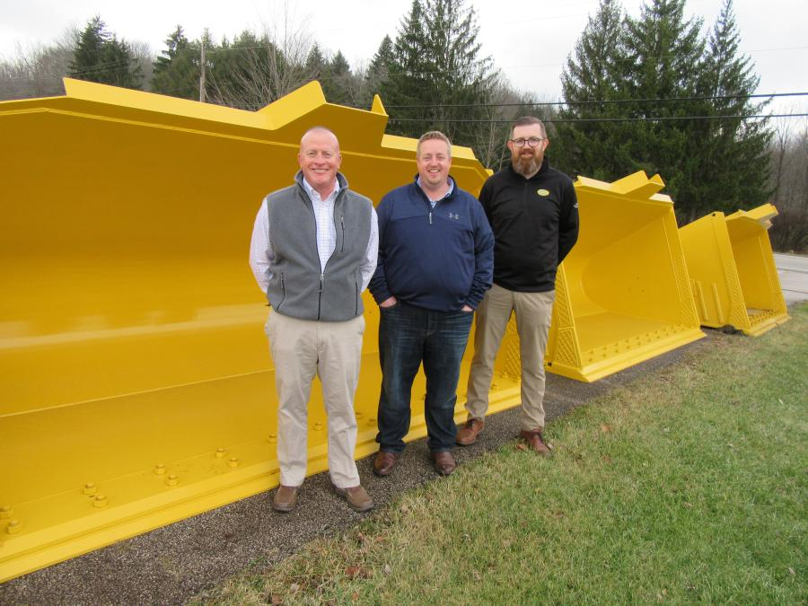 (L-R): ACS Industries' Director of Operations and Vice President Jon Gibson is joined by Vice President of Sales and Marketing's Matthew Swedberg and Strickland's Mick Crimmins to ensure that the ownership transition runs smoothly.