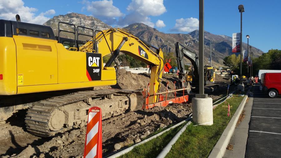 Crews widened the roadway on University Parkway, 700 North and University Avenue. (Utah Transit Authority photo)