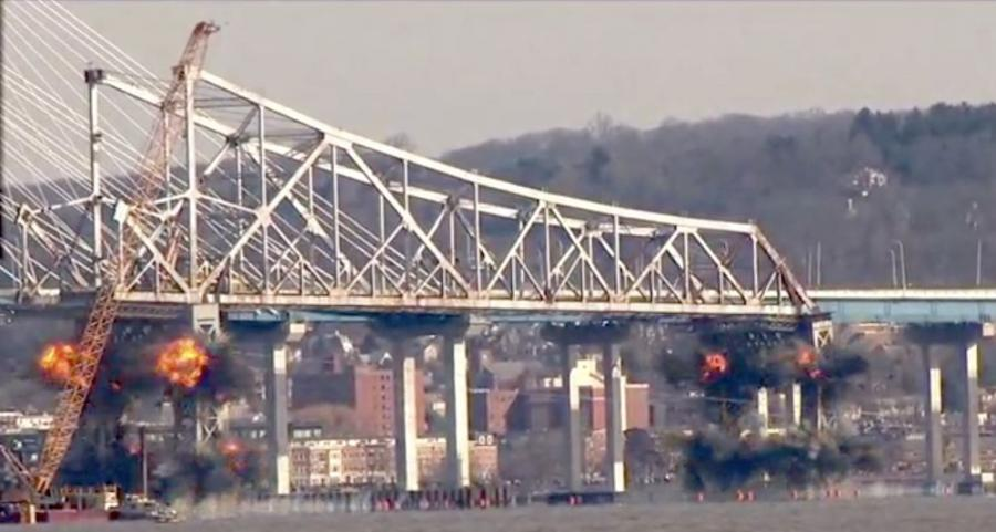 Old Tappan Zee Bridge Demolished | Construction Equipment Guide