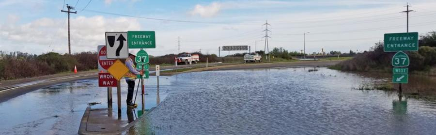 Extreme weather and its associated costs are expected to become more pronounced and more frequent in the future as a result of climate change.  (Caltrans photo)