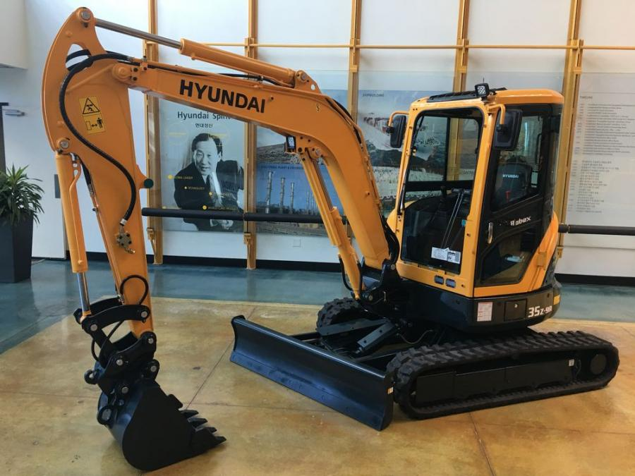 Hyundai Construction Equipment Americas highlights its recently upgraded R35Z-9A compact excavator model at World of Concrete 2019.
