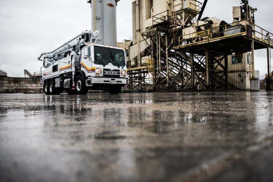 Mack Trucks will equip Mack TerraPro concrete pumper models with the Mack mDRIVE HD automated manual transmission (AMT), marking the first time an AMT has been available in a cabover concrete pumper.