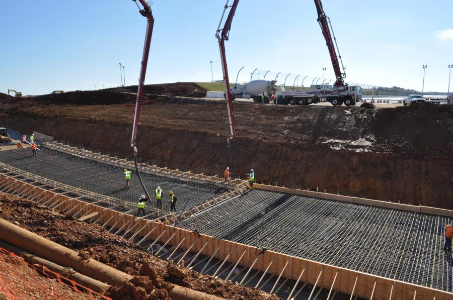 The first task for crews working on Phase 1 of the Talladega Speedway Transformation project involved completion of an oversized, two-lane vehicle tunnel.