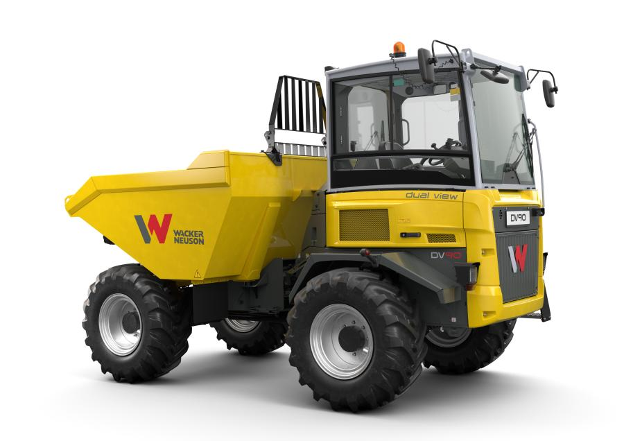 With Wacker Neuson's new dual view dumpers, the operator always has full visibility ahead. When unloading, the operator looks in the direction of the skip, before driving, the operator swivels the seat and console so he is facing in the driving direction.