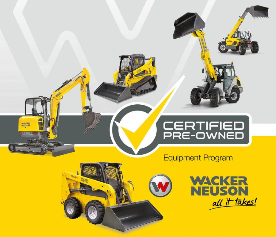 To qualify as a Wacker Neuson CPO piece of equipment, each machine undergoes a strict set of criteria for reconditioning.
