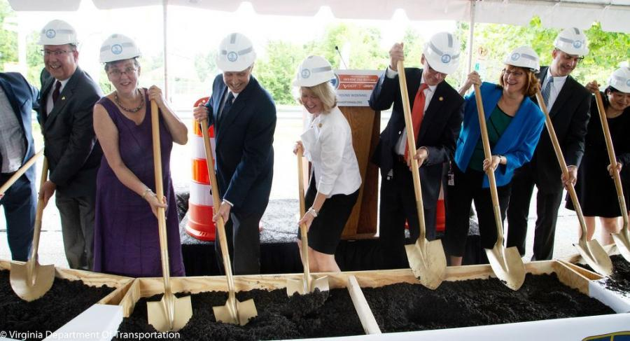 State officials broke ground on I-66 Inside the Beltway improvements in June 2018.