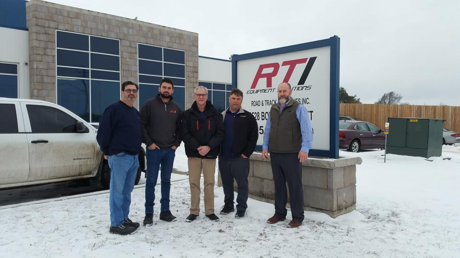(L to R) Roy Tuzi – RTI President, Andrea Tuzi – RTI General Manager, Gordon Plotkin – HCEA CE District Manager, Dominic Dube – HCEA District Service Manager, Ted Steinkamp – HCEA Parts Marketing Assistant Manager
