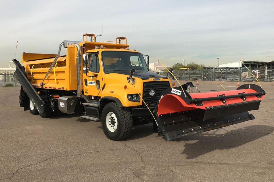 ADOTs new snow plow trucks cost $280,000 each and weigh 65,000 lbs. when fully loaded with equipment and deicing materials.