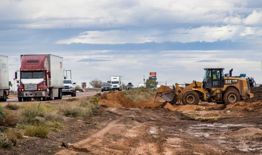 ADOT engineers are using old asphalt to create the foundation for the new I-10 eastbound lanes that are now under construction.