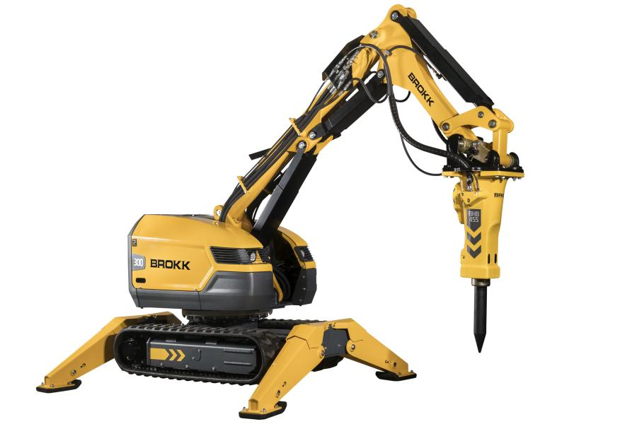 Like its predecessor, the mid-sized Brokk 300 is just 47.2 in. (120 cm) wide, but can handle larger attachments weighing as much as 1,102 lbs. (500 kg).