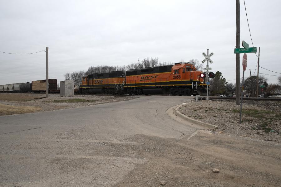 Four railroad crossings, including this crossing at N.W. 97th St., in Oklahoma City will be upgraded. The Oklahoma Transportation Commission approved $1.4 million in dedicated federal funds combined with railroad company matching funds to improve safety at four Burlington Northern Santa Fe rail crossings in a primarily residential area in northwest Oklahoma City.