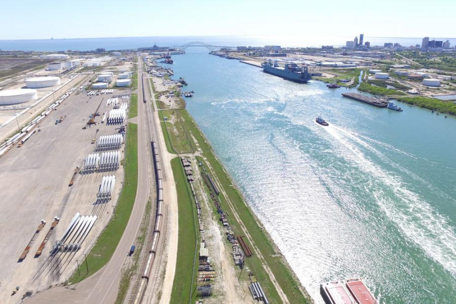 Port of Corpus Christi photo USACE awarded a $92 million contract to Great Lakes Dredge & Dock Company LLC to deepen and widen the Corpus Christi Ship Channel (CCSC) from the Gulf of Mexico to Harbor Island.