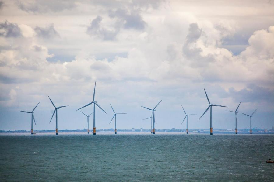 One of Ørsted's projects, Burbo Bank produces enough electricity to power more than 80,000 United Kingdom homes annually. The turbines are in Liverpool Bay on the Irish Sea.