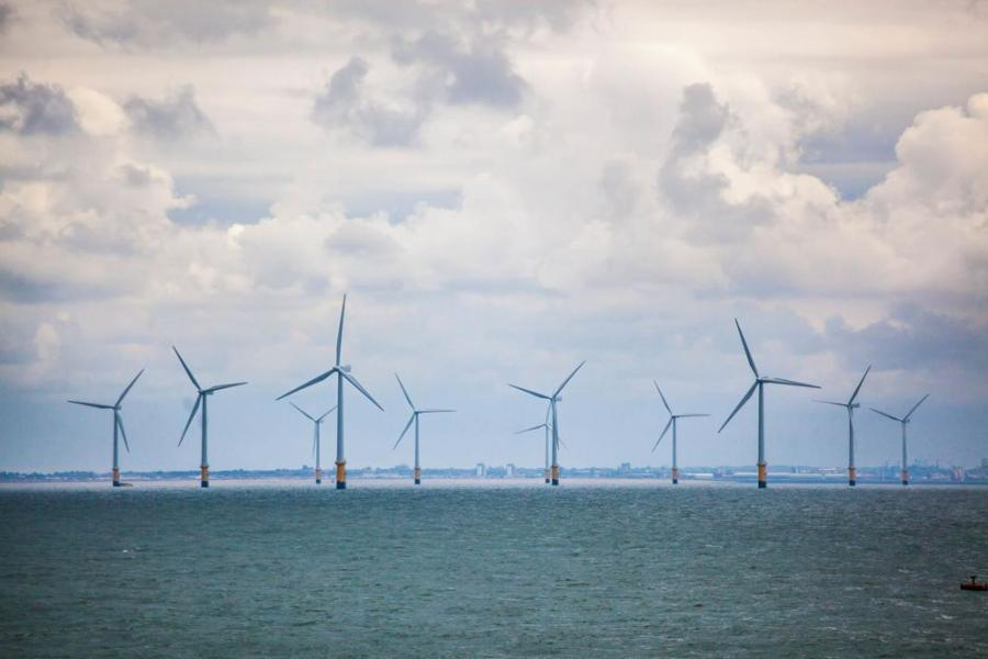 One of Ørsted's projects, Burbo Bank produces enough electricity to power more than 80,000 United Kingdom homes annually. The turbines are in Liverpool Bay on the Irish Sea. (Ørsted photo)