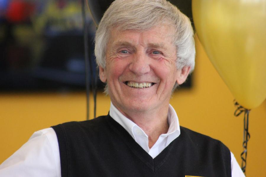 John Carter retired from JCB after 60 years with the company.