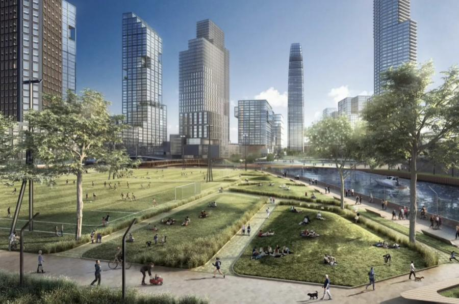 Developer Sterling Bay is proposing a 55-acre, mixed-use community along the Chicago River.
