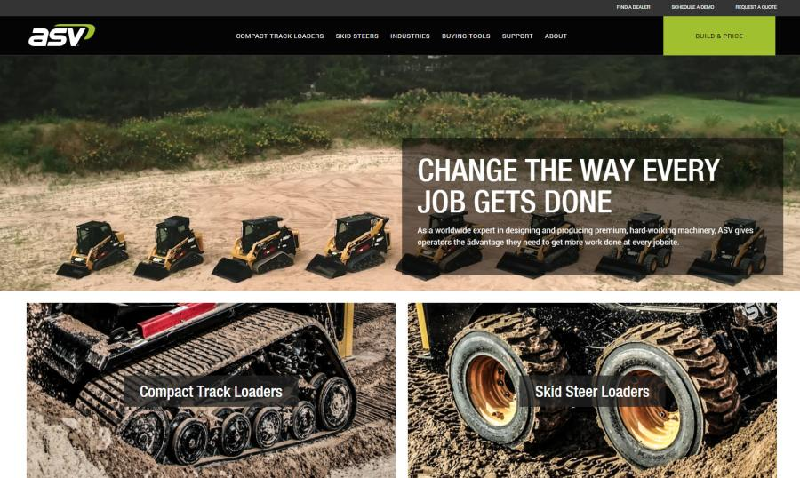 ASV Holdings Inc. introduces a new brand strategy and website highlighting the product features and qualities that make ASV an industry leader and allow customers to get more done in more places.