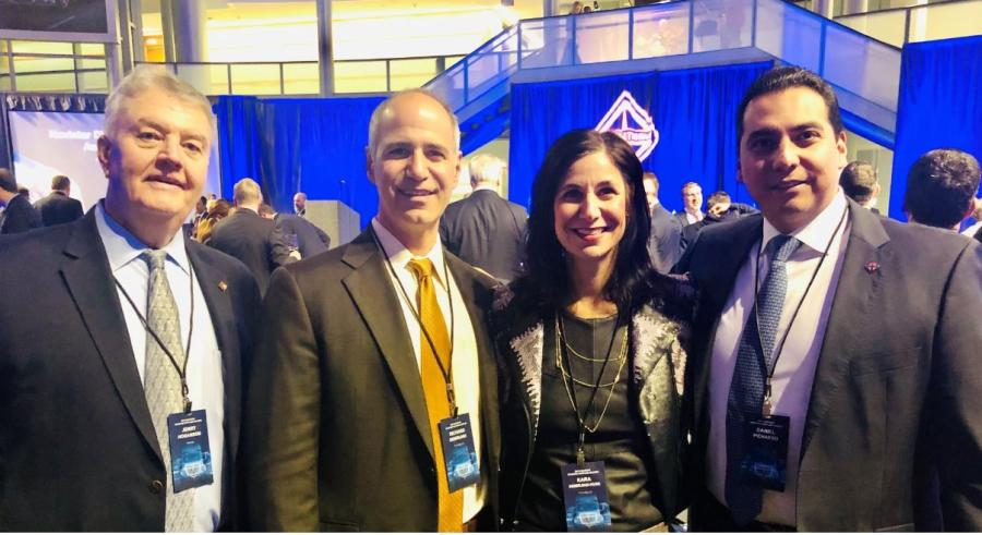 (L-R) are Jerry Hoganson, chief engineer; Richard Demirjian, president and CEO; Kara Demirjian-Huss,  CMO; and Daniel Pichardo, direct procurement executive.