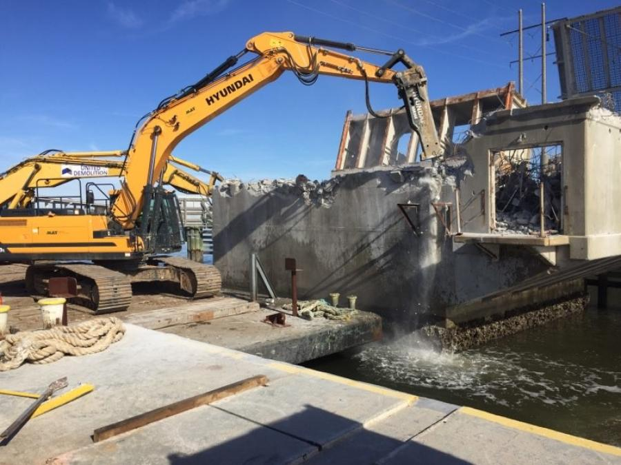 United Demolition employs two Hyundai excavators, with hammers, purchased from May Heavy Machinery.