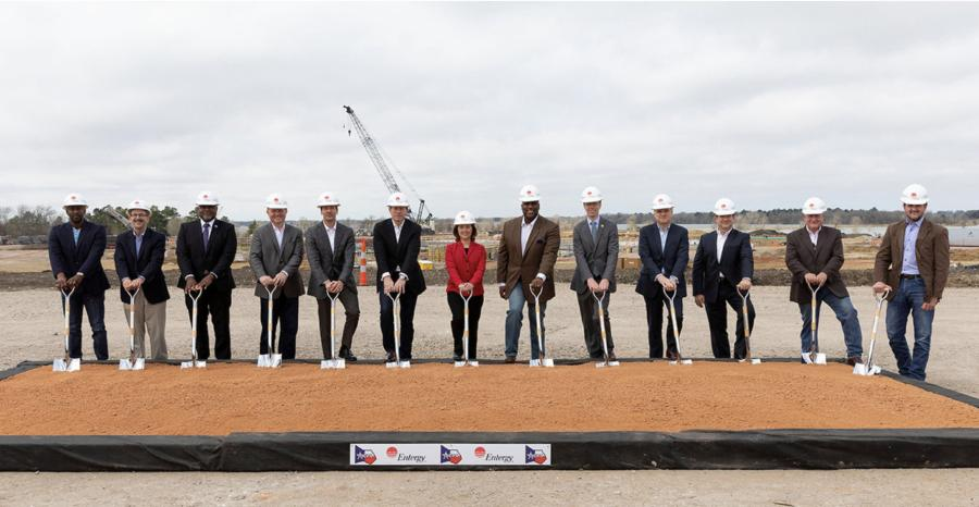 Entergy executives, elected officials and community leaders gathered to celebrate a groundbreaking marking the ceremonial start of construction on the Montgomery County Power Station.