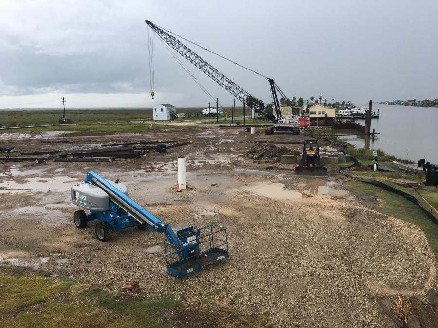 The construction will provide access for residents on the south  side of the waterway. (TxDOT photo)