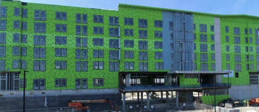 The rectangular hotel will feature 164 rooms and 9,762 sq. ft. of total public amenity space.