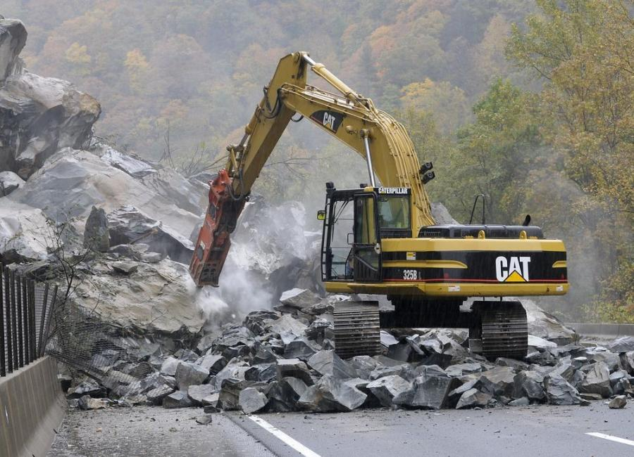 A previous rock slide occurred in 2009 along the same stretch of I-40 as the latest slide in February.