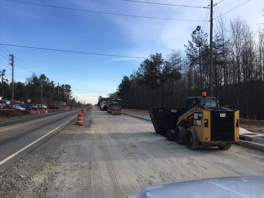 The general contractor, when doing road projects, uses excavators, dozers, loaders, backhoes, motorgraders, rollers, and pavers from Cat, John Deere, and Komatsu.