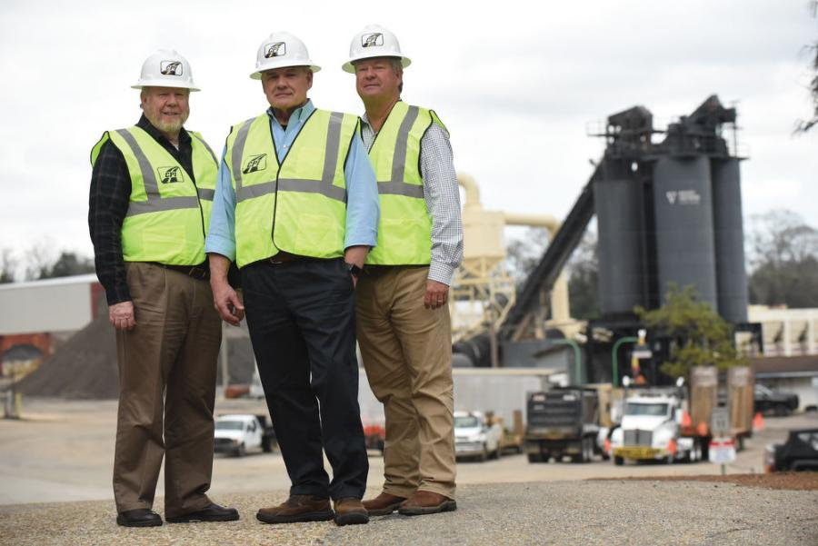 (L-R): Construction Partners' leadership team, CFO Alan Palmer, CEO Charles Owens and Senior VP John Harper, who also is president of Wiregrass Construction.