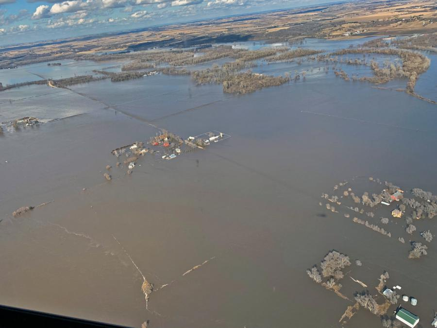 The Nebraska Emergency Management Agency reported that as of March 20 more than 80 percent of the state was under emergency declaration orders, including 77 counties, four tribal nations and five special government areas such as unincorporated townships.