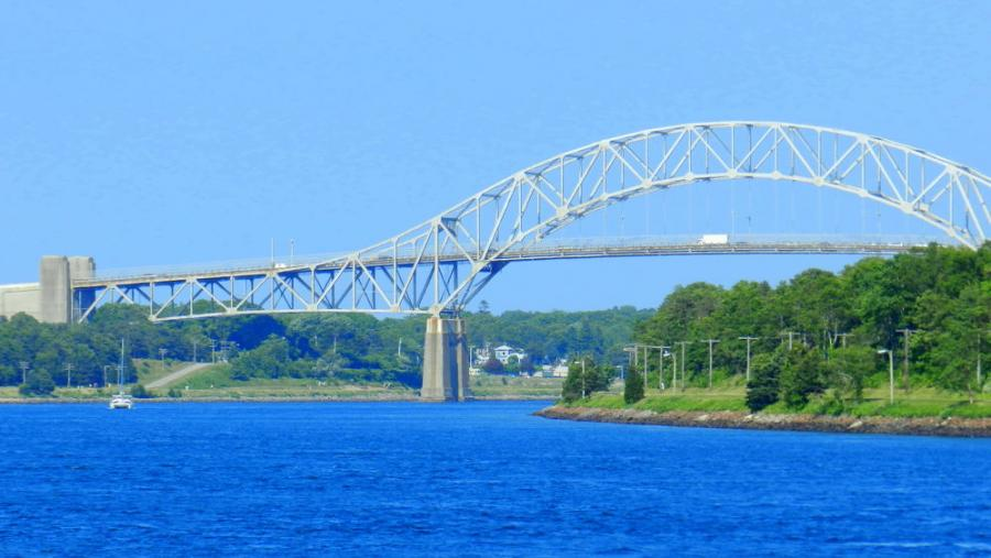 U.S. Army Corps of Engineers (USACE), New England District officials began maintenance work on the Bourne Bridge spanning the Cape Cod Canal in Bourne, Mass.