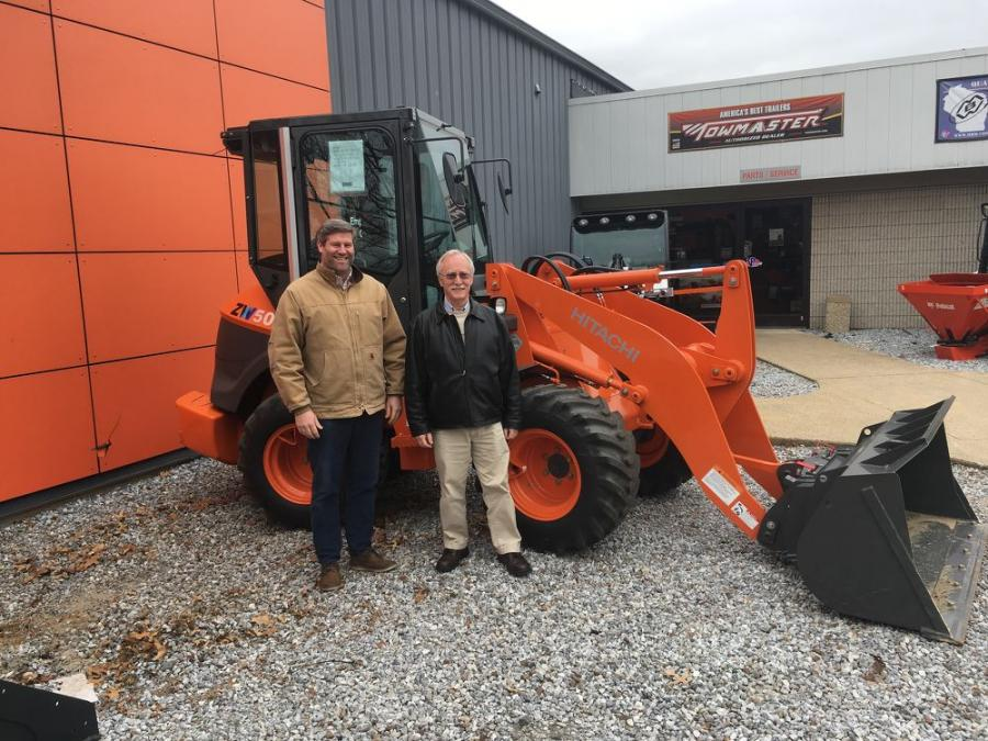 Stu Graham, president of Bobcat of Connecticut (L) and Gary Bell, HCMA compact business manager.