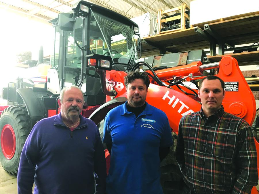 (L-R): are John Apple, President, CEO and founder of Westchester Tractor; Matt Apple, Vice President of Parts and Service, and Andrew Prusinowski, Vice President of Administration and Technology.
