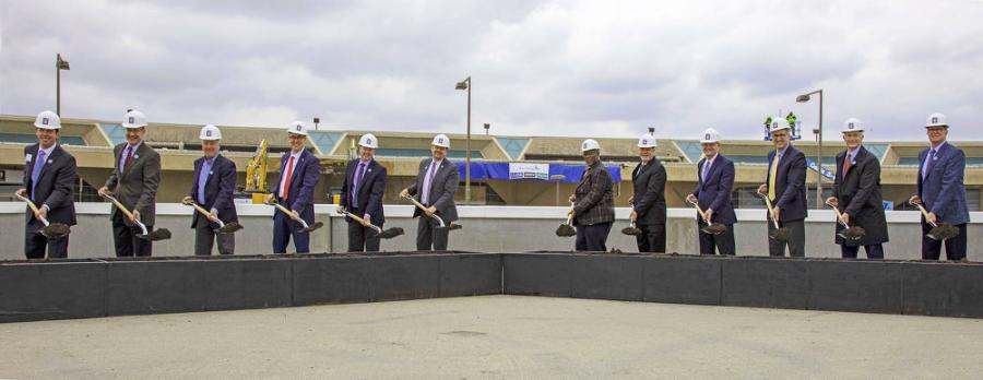 Civic, aviation, business and labor leaders officially break ground on the new $1.5 billion terminal at Kansas City International Airport.