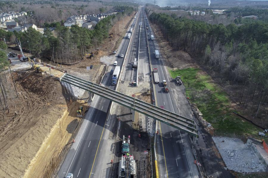 Average daily traffic on the section of I-85 being widened is 118,850 cars and trucks, making it a heavily congested route. (C.W. Matthews Contracting photo)