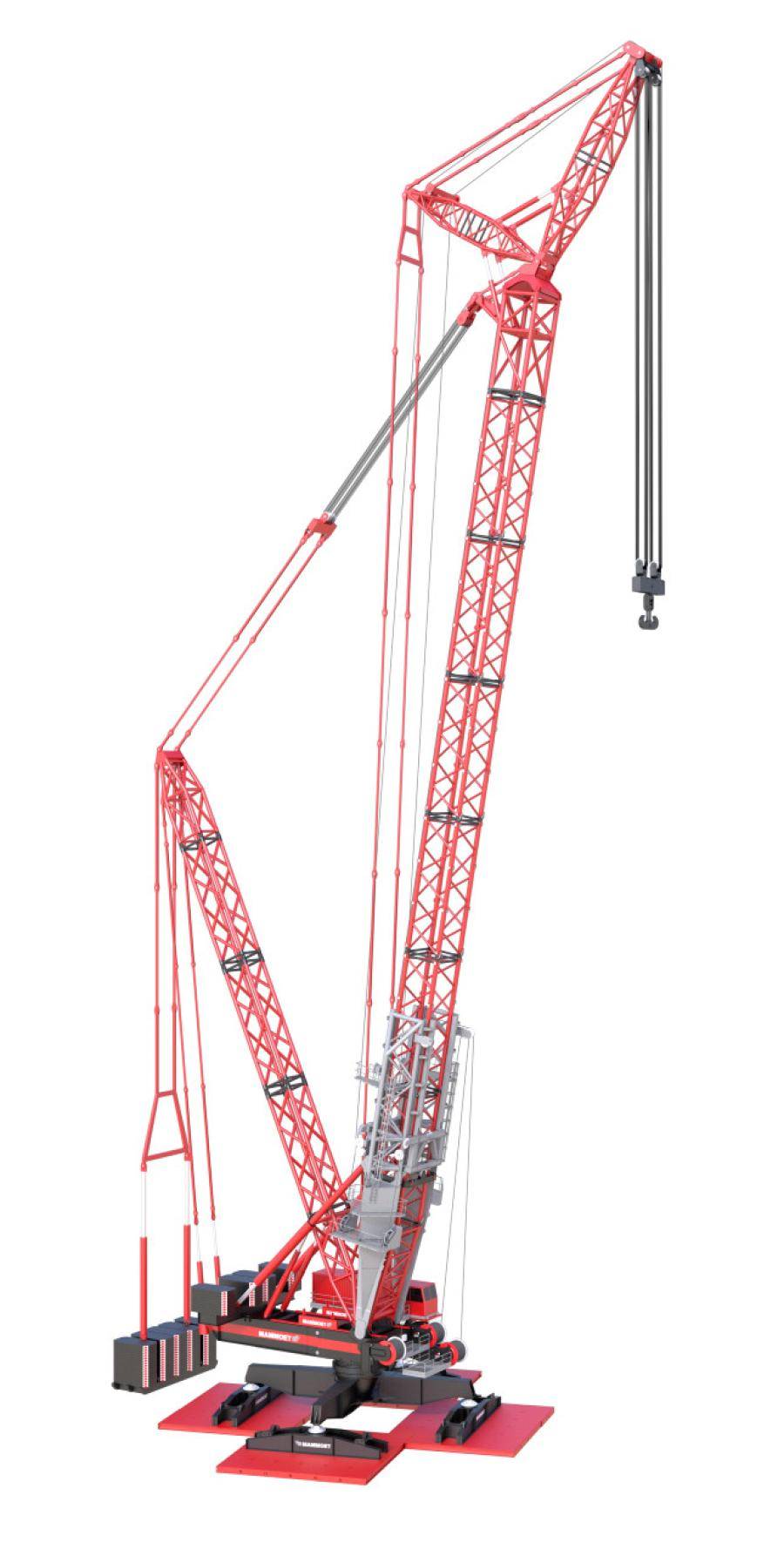 The Focus is a high-capacity crane that can be erected vertically in a very small area.