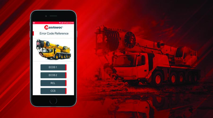 In addition to diagnostic codes for Grove and Manitowoc branded cranes that run on Manitowoc's Crane Control System (CCS) and GMK cranes with ECOS systems, the app provides diagnostic codes for several National Crane NBT models, and for select Rated Capacity Limiter Systems on certain Grove and National Crane models.