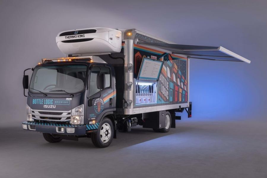To showcase how a craft brewer can maximize their investment in their delivery truck, Isuzu, Supreme and Delivery Concepts Inc. developed a craft beer truck built with the quality and durability to make deliveries, and which also can be used at live events for promoting the product.
