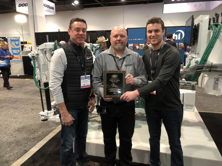 Northern Region winner: (L-R) are Ron Measel of Ace Cutting Equipment & Supply, Mike Sansom of Minnich Manufacturing and Steve Measel of Ace Cutting Equipment & Supply.
