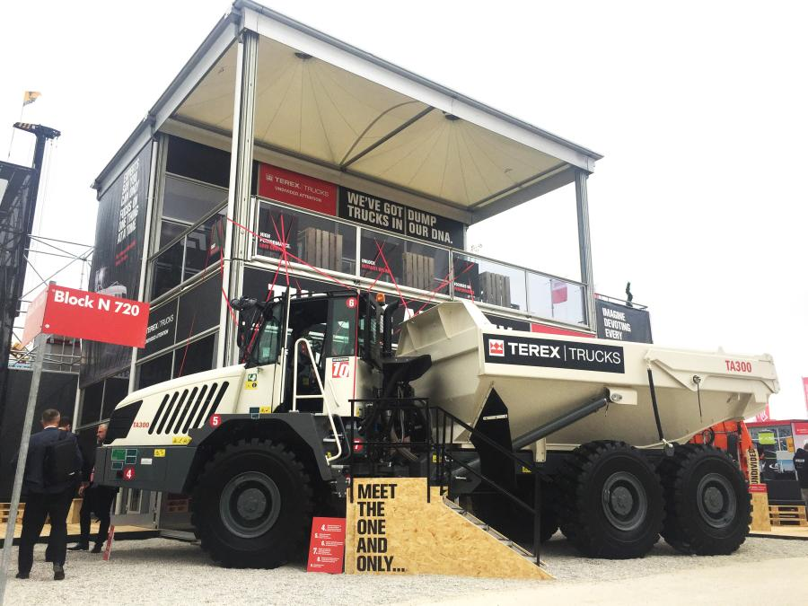 The recently updated Terex Trucks TA300 articulated hauler is making its first international trade show appearance on the company's outdoor stand: FN 720/9 at bauma in Germany.